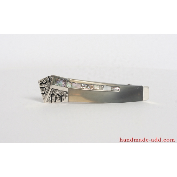 Sterling Silver Hair Barrette . Small size. Unique gift for ladies.