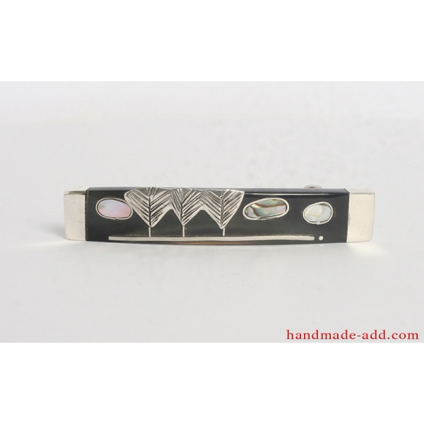 Sterling Silver Hair Barrette . Small size.
