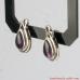 Stud Silver Amethyst Earrings, Sterling Silver Earrings with genuine Amethyst.