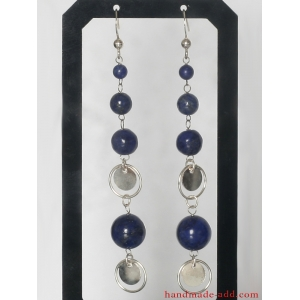 Lapis lazuli Dangle Silver Earrings, Sterling Silver Earrings Lapis lazuli, Silver Dangle Earrings, Dangle Earrings