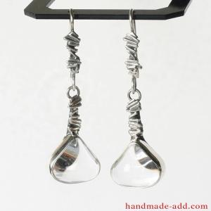 Dangle Silver Earrings Quartz