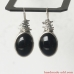 Dangling Earrings. Sterling Silver Earrings with  Black Onyx