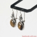 Dangle Silver Earrings with Tiger's Eye