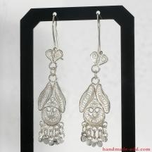 Filigree Dangle Silver Earrings, Chandelier Earrings, Sterling Silver Earrings, Silver Dangle Earrings, Handmade Filigree Earrings, Dangle Earrings
