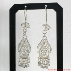 Filigree Dangle Silver Earrings, Chandelier Earrings, Sterling Silver Earrings, Silver Dangle Earrings, Handmade Filigree Earrings, Dangle Earrings