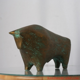 Bull Figurine Pottery, Bull Art, Ceramic Bull Decor, Ceramic Bull, Bull Sculpture, Bull House, Pottery Bull, Clay Bull Gifts, Bull Animals