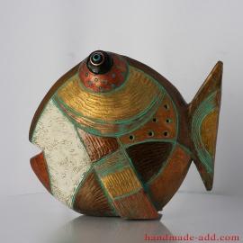 Ceramic Fish Sculpture Art