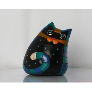 Ceramic cat Home decor - Pottery Sweet Unusual Cat  Handmade