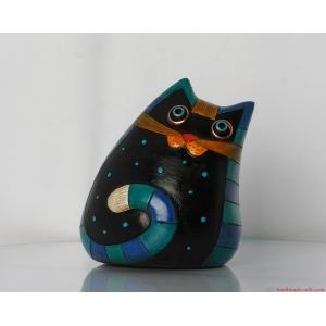 Ceramic cat Home decor - Pottery Sweet Unusual Cat  Handmade