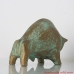 Ceramic Bull Figurine Pottery, Pottery Art, Fireplace decor, Birthday Gift