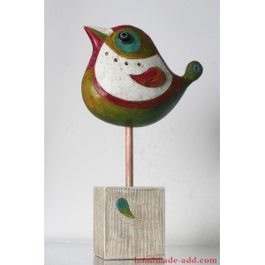 Ceramic Sparrow Figurine Statuette Statue Sculpture. Fireplace decor.