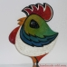 Pottery Cockerel Cock Rooster - Wall hanging pottery - Nursery  Decor