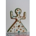 Pottery Doll - Ceramic Wall Hanging Dancing Doll - Wall Decor Nursery