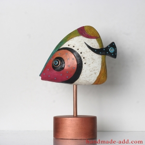 Pottery Fish Figurine Statuette Statue Sculpture