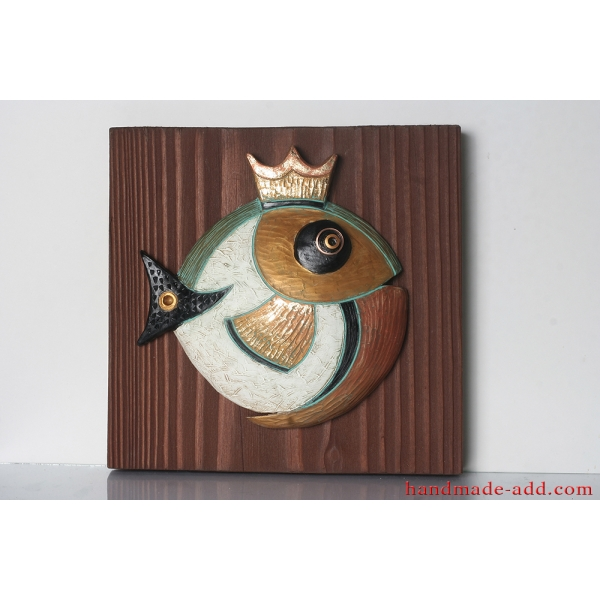 The Goldfsh - pottery wall hanging