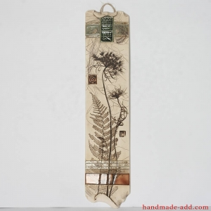 Wall decor Ceramic wall art. Wall hanging artwork. Ready to hang home decor. Relief Flower and symbols .