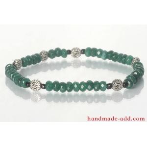 Friendship Bracelet Unisex Green Agate Bracelet