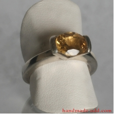 Sterling Silver Ring with Gemstone Citrine