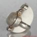 Sterling Silver Ring with Gemstones Rainbow Moonstone Amethyst Zircon