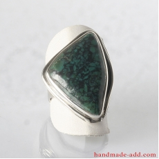 Silver Ring with Chrysocolla