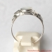 Sterling Silver Ring with Genuine White Mother-of-pearl