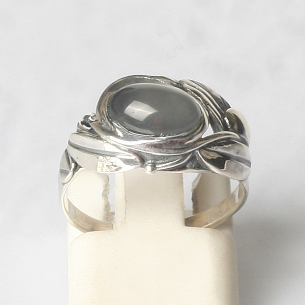 Sterling Silver Ring with Genuine Agate