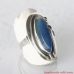 Silver Ring with Blue Agate