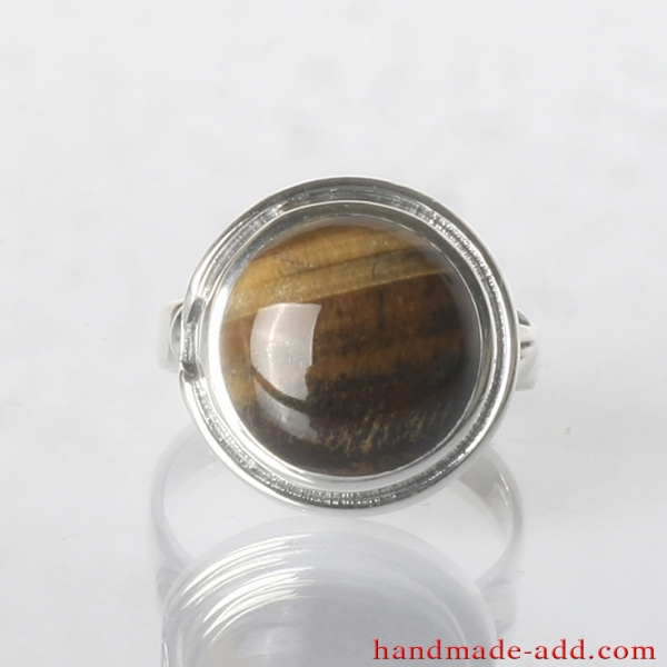 Silver Ring with Tiger's Eye