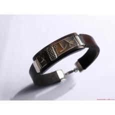 Unisex Dark Brown Leather Bracelet