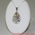 Christmas Tree Necklace Silver Gemstones Citrine, Peridot, Rhodolite
