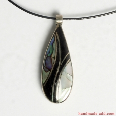 Necklace Droplet | Necklace mother-or-pearl horn