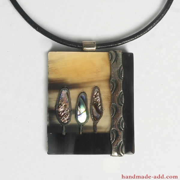 "Necklace ""My Forest in the morning"""