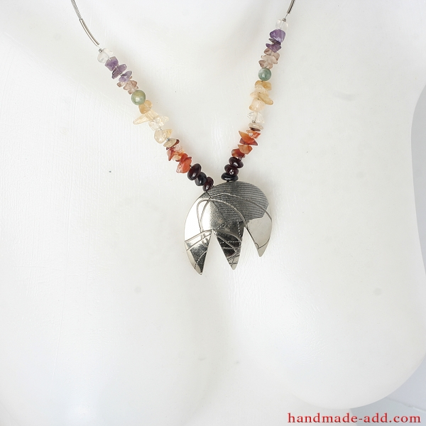 Chakras necklace with gemstones