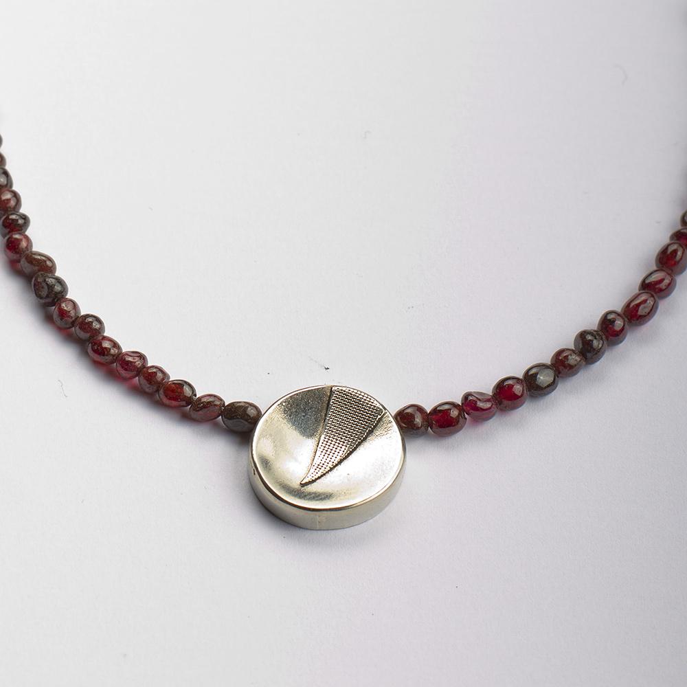 Garnet choker necklace, Deep red Garnet beaded gemstone necklace ...