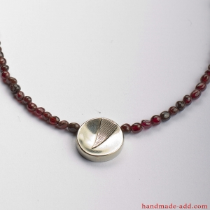 Garnet choker necklace, Deep red  Garnet  beaded gemstone necklace