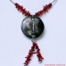 Bohemian necklace with red coral