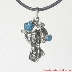 Silver Virgin Mary Necklace Pendant