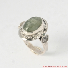 Green Kyanite Ring Handcrafted, Sterling Silver Ring with genuine /natural/ kyanite