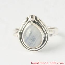 Rainbow Moonstone Sterling Silver Ring  Gemstone Ring