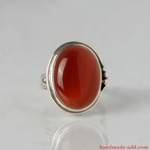 Silver Ring with Carnelian