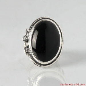 Silver Ring with Black Onyx