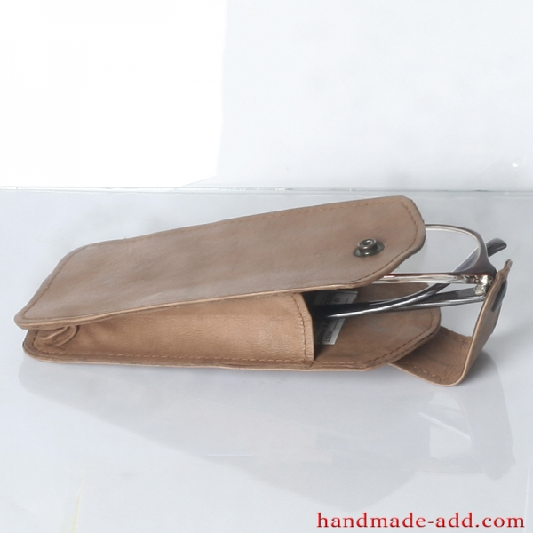 Vintage Leather Eye Glasses Case | Smartphone case Brown