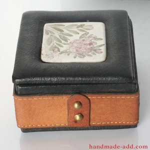 Gift box . Vintage Leather Gift Box . Unusual gifts for Christmas. Collectible . Limited edition. Jewelry box.