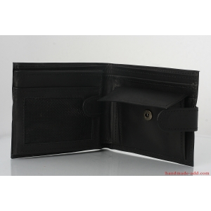 Mens wallet - top grain leather WALLET - LARGE COIN BIFOLD WALLET