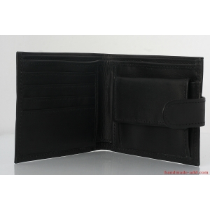 Mens wallet - top grain leather wallet - MIDDLE COIN POCKET BIFOLD WALLET
