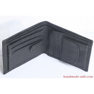 Mens wallet - top grain leather - LARGE COIN POCKET BIFOLD