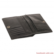 Women Unisex wallet - top grain leather - BIFOLD WALLET