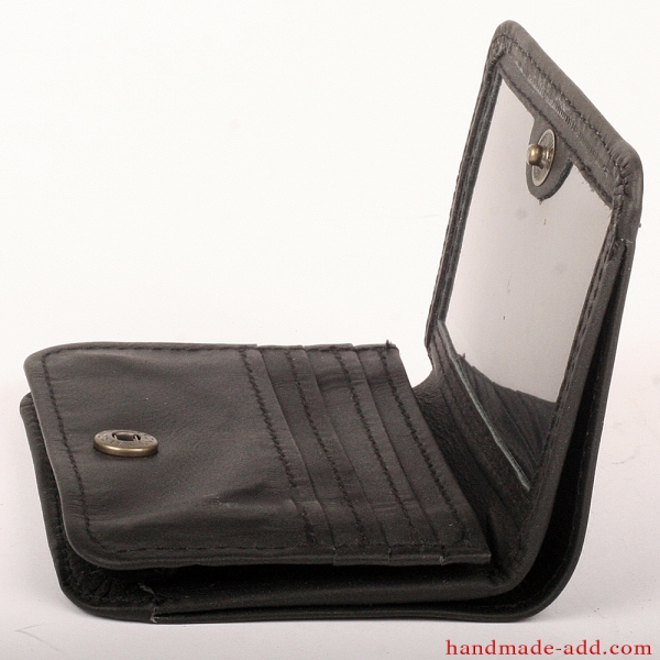 Mens Unisex Wallet - top grain leather - SMALL COIN POCKET BIFOLD