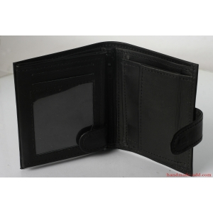 Mens wallet - top grain leather - SMALL COIN POCKET BIFOLD