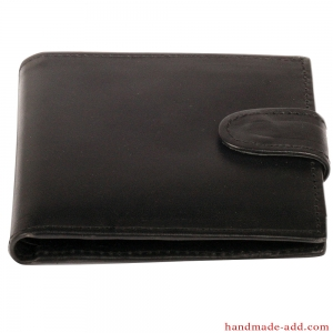 Mens wallet - top grain leather - COMPACT COIN POCKET BIFOLD